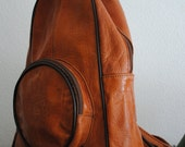 Vintage 70s Hippie Leather Bag FREE SHIPPING
