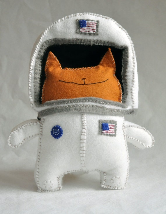 Cat in Astronaut Suit - Pics about space
