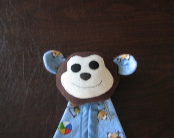 Security Blanket - blue flannel-  Gym Monkey - Clearance
