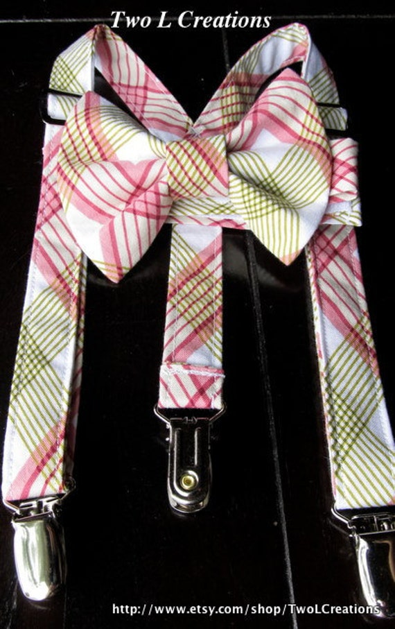 Suspender and Bow Tie Set for newborn, toddler and boys