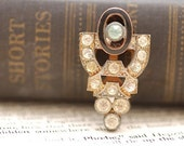 Art deco dress/ fur coat clip - 1930's