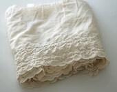 SUMMER Cotton Blend Fabric, Vintage Cream Fabric, Yards of EYELET FABRIC, Eyelet Fabric, Embroidered Fabric, Cream Colored Eyelet Fabric,