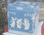 Vintage Wedgewood Style Tin Made in England
