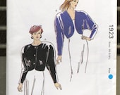 Vintage Kwik Sew Pattern 1923, Sewing Pattern, Misses's Jacket, Supplies, Commercial, UNCUT