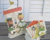 """Vintage Irmi Switch Plate """"Cinderella"""" and Nursery Musical Mobile Holder """"Circus"""""""
