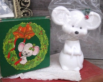 Vintage Avon Cologne Bottle, Avon Collectible, Merry Mouse Zany Cologne, MIB, Christmas Mouse, Mens Cologne, Treasury