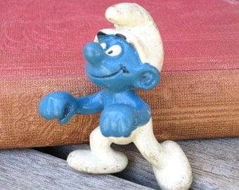 Vintage Smurf Figurine, Peyo 1983, Vintage Toy