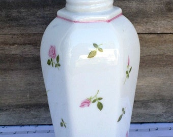 Vintage Andre Richard Potpourri Holder - INCOMPLETE, Repurpose Bud Vase, English Rose Porcelain Bud Vase, Valentine's Day Gift