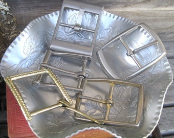 Vintage Old Lot of Belt Buckles, Instant Collection, Recycle, Repurpose, Upcycle Projects