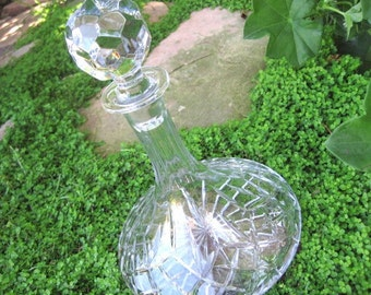 Vintage Galway Crystal Longford Ships Decanter with Stopper, PRISTINE