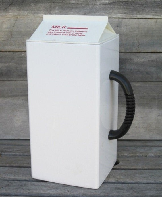 vintage metrokane milk box with lid milk or juice container. Black Bedroom Furniture Sets. Home Design Ideas
