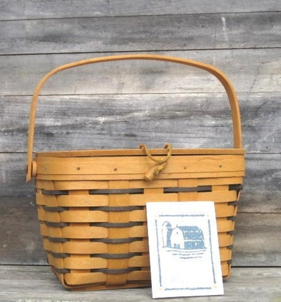 The Longaberger Heartland Collection - HEARTLAND Small Purse Basket - MINT, Treasury