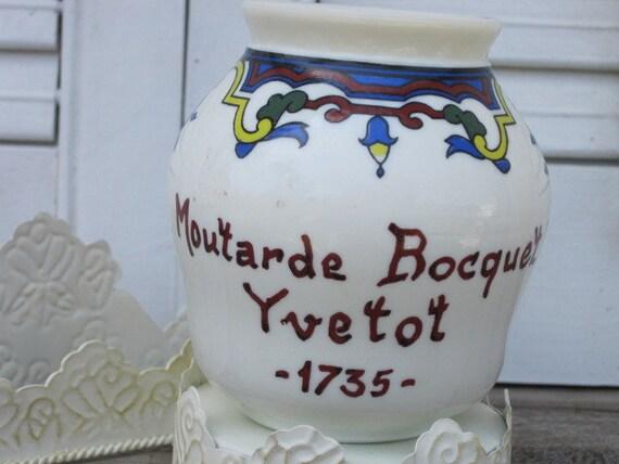 Vintage moutarde bocquet yvetot 1735 digoin france french for Decoration yvetot