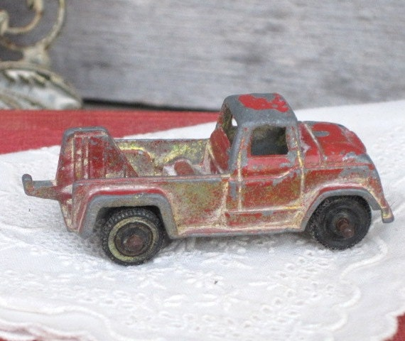 Vintage Tootsie Toy Car Collectibles Red Vintage Metal Toy