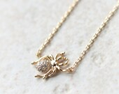 Gold Spider necklace