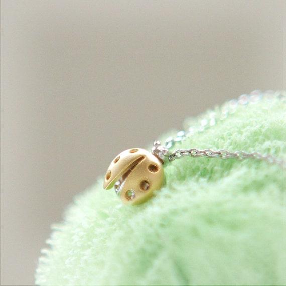 Tiny LadyBug Necklace