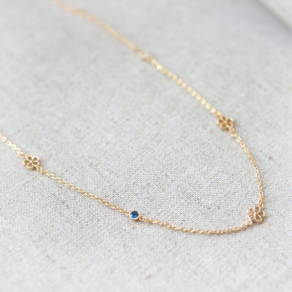 Blossom Necklace in gold plated 925 sterling silver