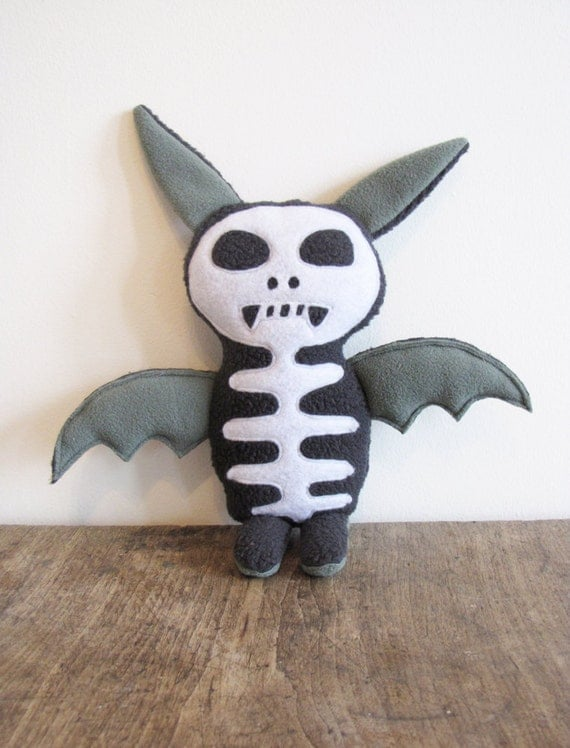 Holiday Sale - Stuffed Plush Fabric Monster Toy, Byron The Happy Monster