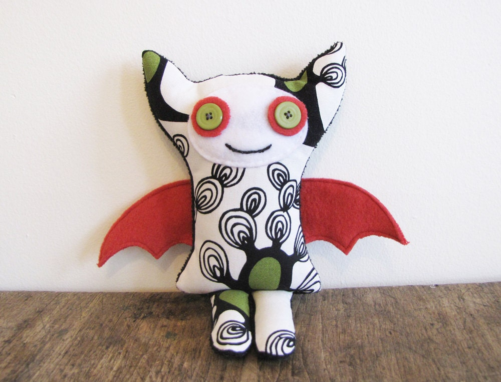Halloween sale stuffed plush fabric monster toy ellie the for Baby monster fabric