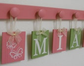 Butterfly Nursery Decor Butterfly Decoration Green and Pink Baby Girl Shower Gift for MIA BUTTERFLIES Wall Decor