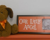 Nursery Wall Art Baby Nursery Decor in Orange and Brown Baby Picture Frame - OUR LITTLE ANGEL
