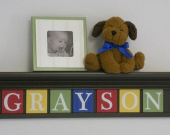 Childrens Room Decor - Shelf Room Art - Personalized for Nursery - Personalized Baby Gift - Personalized Name Sign - Kids Playroom Decor
