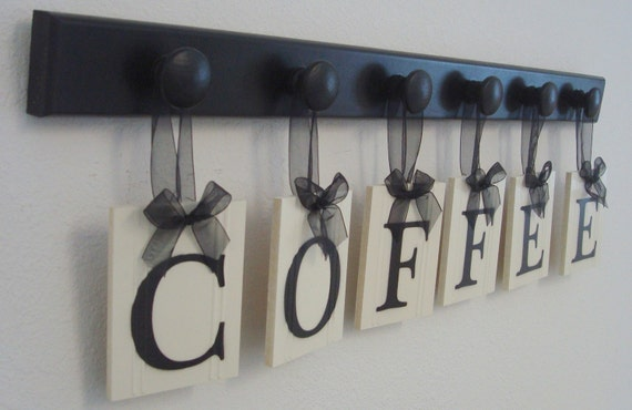 Coffee sign coffee letters coffee decor kitchen coffee for Kitchen letters decoration