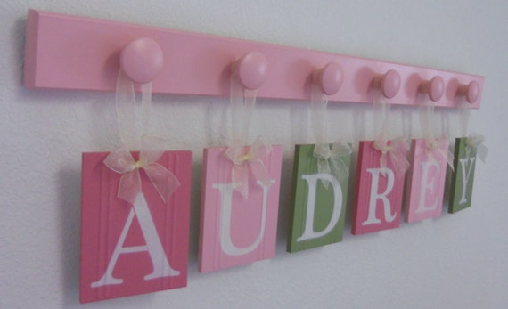 Designer Baby Nursery Name Decor Baby Girl Nursery Gift