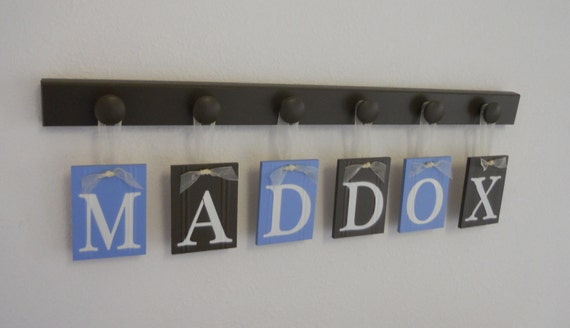 Baby Boy Nursery Decor Name Sign Personalized by NelsonsGifts