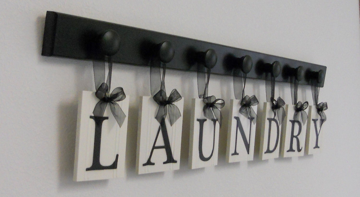 Laundry room sign wall decor personalized hanging letters for Sign decoration