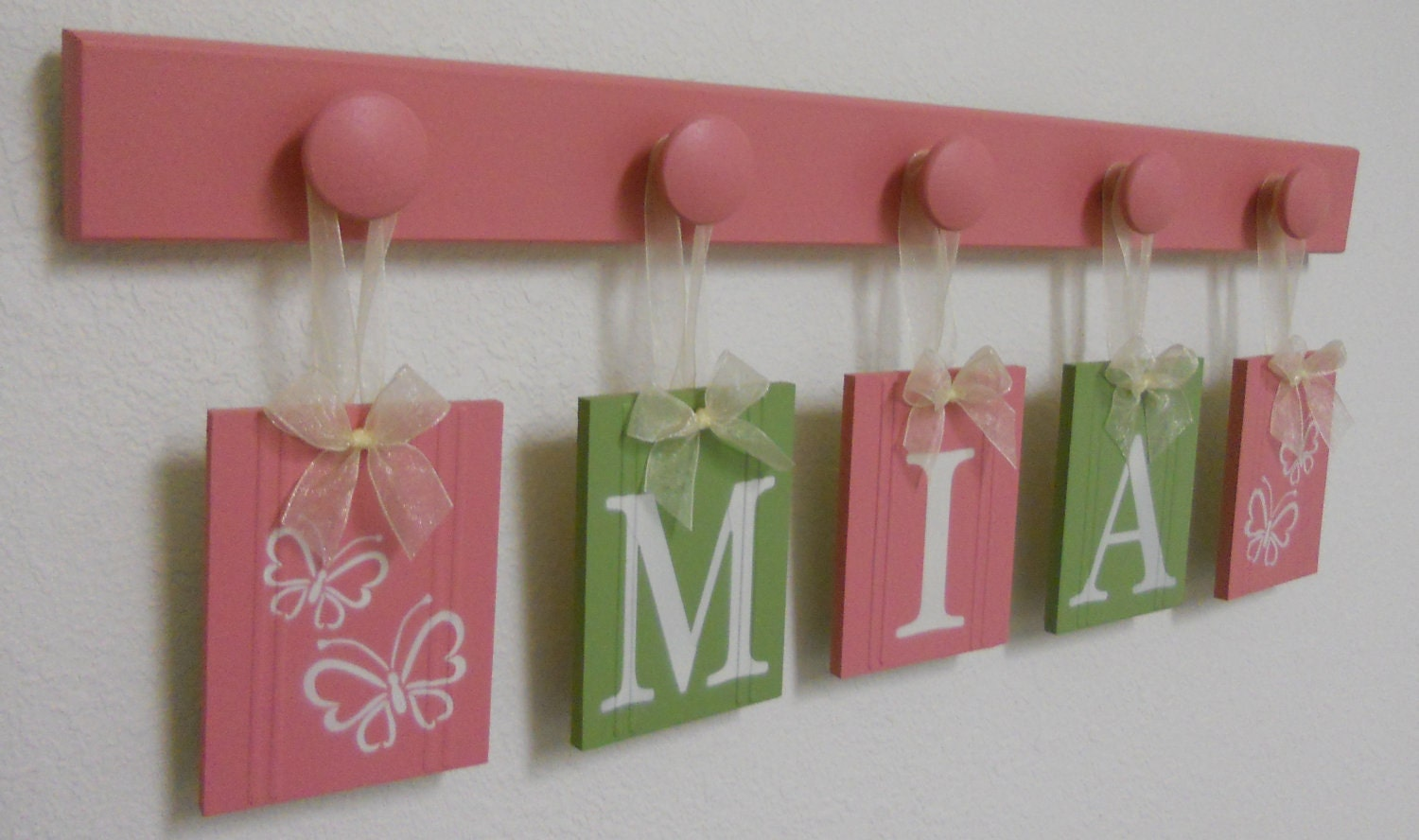Butterfly Nursery Decor Butterfly Decoration Green And Pink