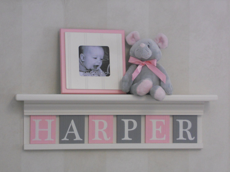 Personalized Children Nursery Decor White or Off White Shelf