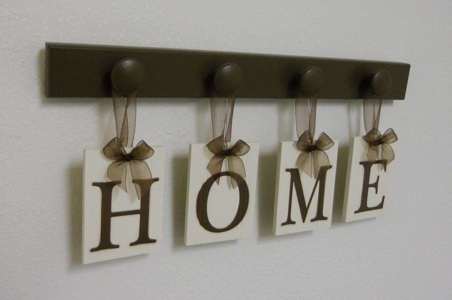 hanging wooden letters home hanging letter sign set includes 4 peg wooden by 22080 | il fullxfull.310700923