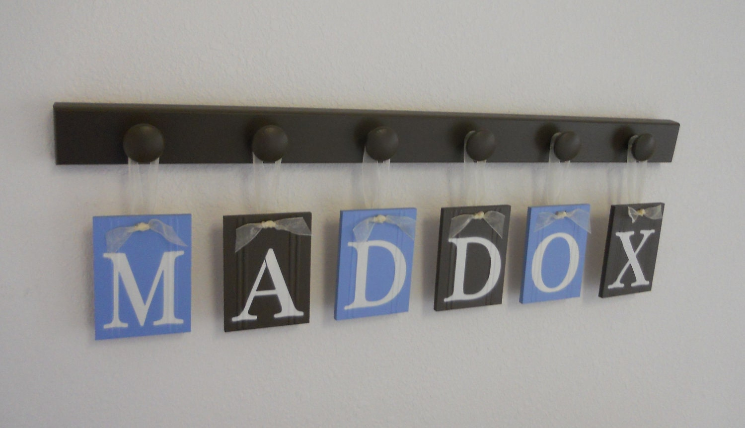 Baby boy nursery decor name sign personalized alphabet wall for Baby name letters decoration