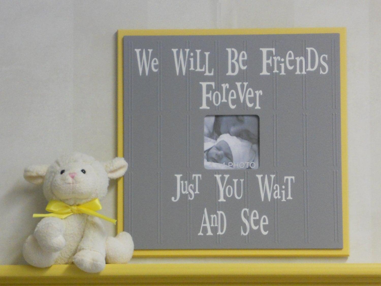 Yellow and gray baby nursery decor yellow photo frames - Gray and yellow baby room ...