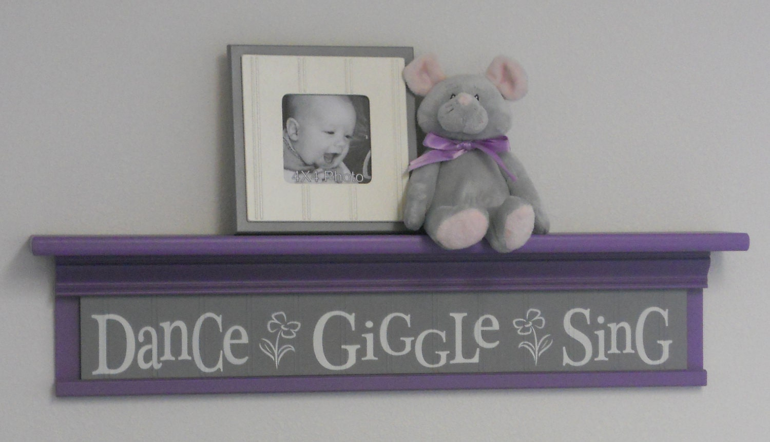 purple gray baby room ideas dance giggle sing sign on. Black Bedroom Furniture Sets. Home Design Ideas