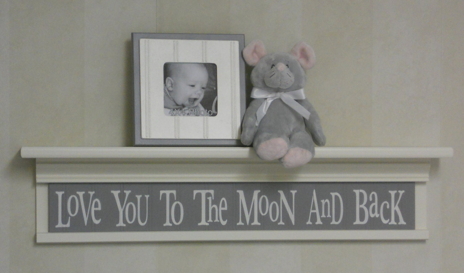 Grey baby nursery decor baby wall decor baby room decor for Baby room wall decoration
