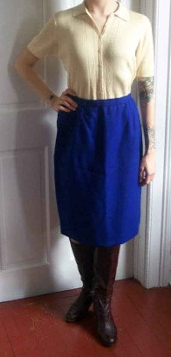 Vintage Blue Skirt Carolina Herrera