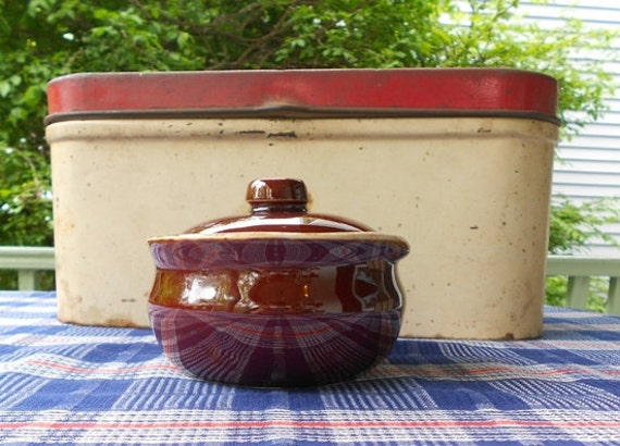Vintage McCoy Pottery Covered Bowl