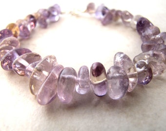 Amethyst Bracelet, Purple Gemstone, February Birthstone, Purple Stone