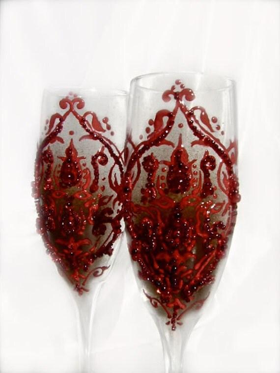 Halloween Wedding Toasting Glasses