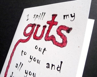 Spilling My guts    ZOMBIE Greeting Card