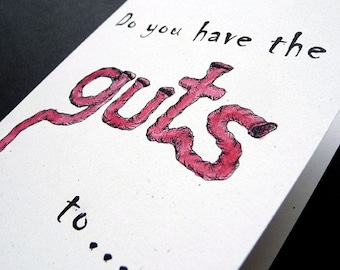 Do You Have The Guts   ZOMBIE Greeting Card