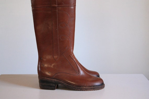RESERVED Brown Waterproof Rubber Roper Boots size 7