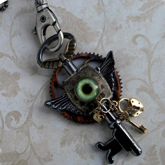 Necklace -  StEAmPuNK Fantasy  Sci Fi -   Key To The Dragon's Lair