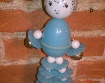 Vintage Celluloid Nursery Baby Rattler Toy