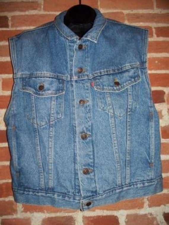 Cherry collar denim vest up - 3 8