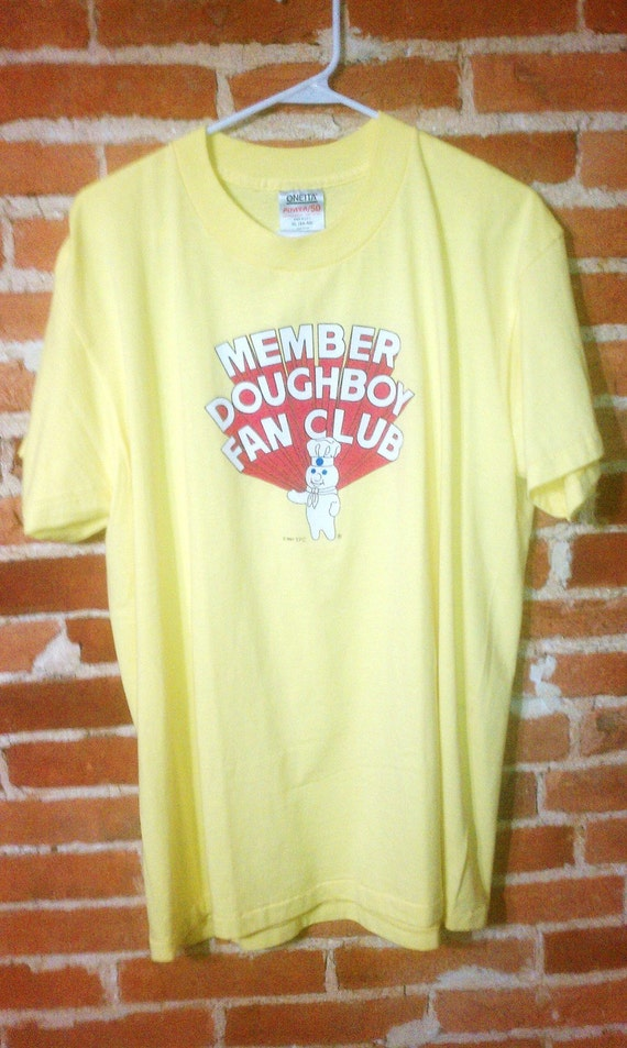 Pillsbury Dough Boy Vintage t-Shirt Member Doughboy Fan Club