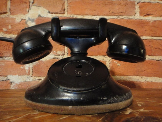Western Electric Telephone F1 Handset D1 Base Vintage