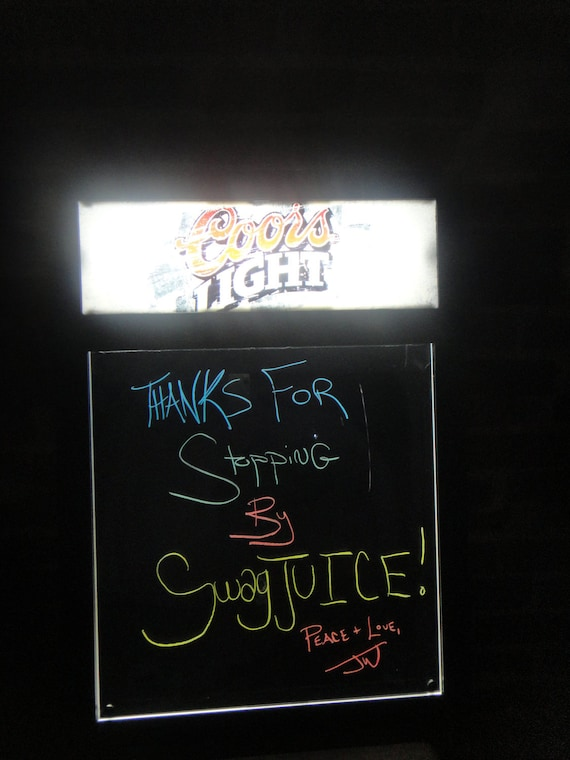 Coors Light Illuminated Chalkboard Lighted Bar Sign RESERVED